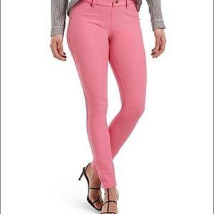 HUE dark pink jean leggings